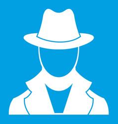 spy icon white vector image