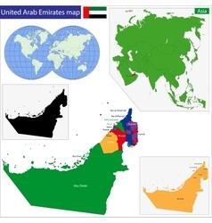 United Arab Emirates map vector image vector image