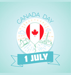 1 july canada day vector image
