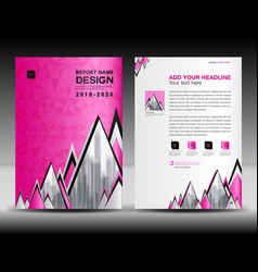 business brochure flyer template in a4 size pink vector image vector image