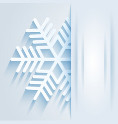 card with snowflake vector image