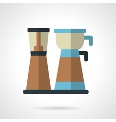 Coffee maker flat color design icon vector image