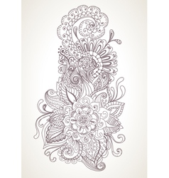 floral orient ornament vector image vector image