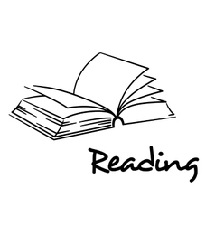 Reading icon with an open book vector image vector image