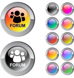 Forum multicolor round button vector image vector image