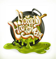 Happy Halloween 3d icon vector image vector image
