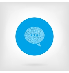 Message icon in flat and doodle style vector image