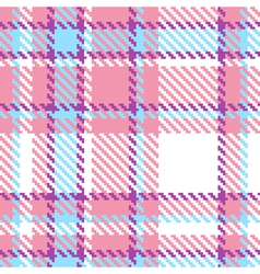 Seamless plaid fabric pattern background vector image