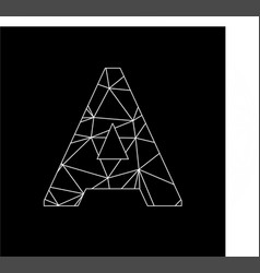 a geometric triangle block chain font vector image