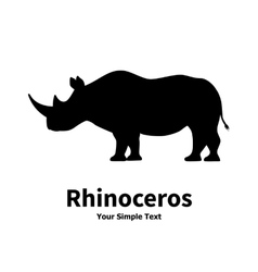 A silhouette of a rhino vector