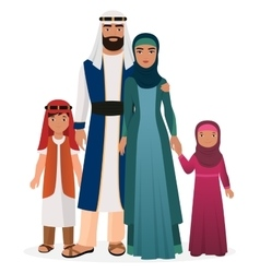 Arabian family Arabian man and woman with boy and vector