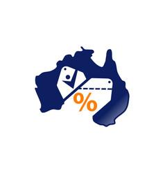 australian coupon shopping vector image