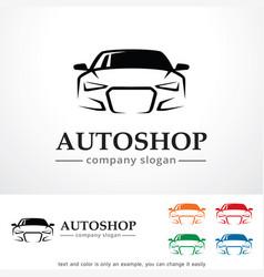 Auto shop logo template design vector