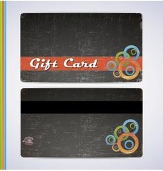 Blac Gift Card vector