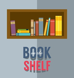 Bookshelf Graphic vector image