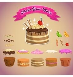 Cake constructor vector