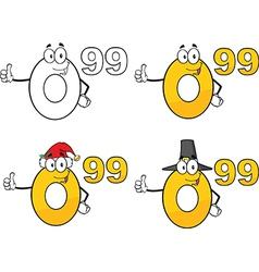 Cartoon numbers vector