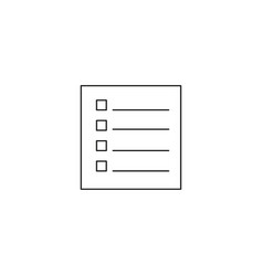 check list icon conceptual of a survey quality vector image