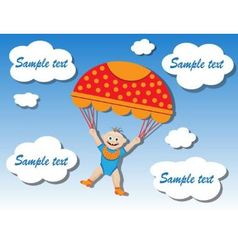child on a parachute vector image