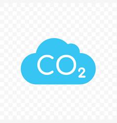 co2 cloud carbon pollution icon vector image