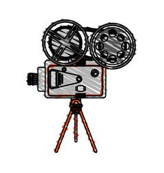 color crayon stripe image cartoon retro movie film vector image