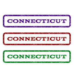 connecticut watermark stamp vector image vector image