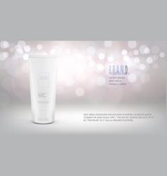 cosmetic advertising design template cream tube vector image
