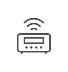 digital alarm line icon vector image