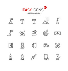 easy icons 42a gettng money vector image