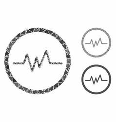 Echogram mosaic icon abrupt pieces vector