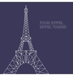 Eiffel tower in polygonal style vector