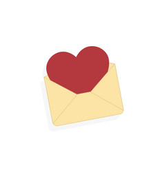 envelope with heart flyer on valentines day love vector image