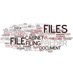 Files word cloud concept vector