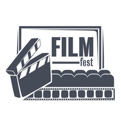 Film fest filmmaking and cinematography vector