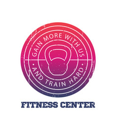 Fitness center round logo badge vector