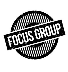 Focus group rubber stamp vector