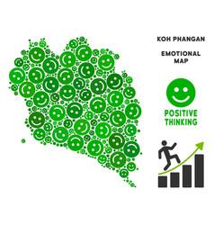 Happiness koh phangan thai island map vector