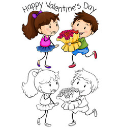 happy valentines day graphic vector image
