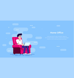 home office concept design flat style vector image