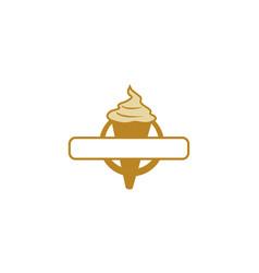 Ice cream logo emblem blank vector