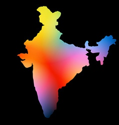 indian map design vector image