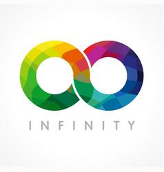 Infinity color logo vector