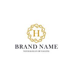 Initial letter h luxury ornament logo design vector