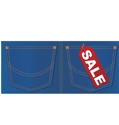 jeans pocket sale tag vector image