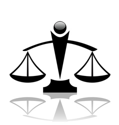 justice scales icon vector image