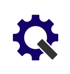 letter q in form a gear vector image