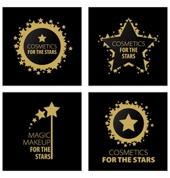 logos magic makeup for the stars vector image