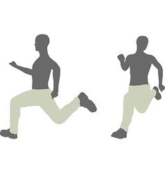 Man silhouette in run escape pose vector