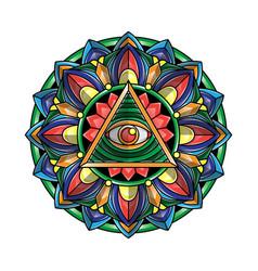 mandala eye art vector image