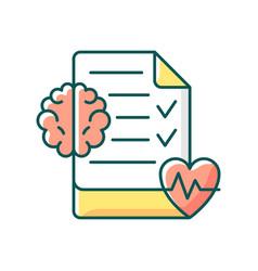 Mental health awareness rgb color icon vector
